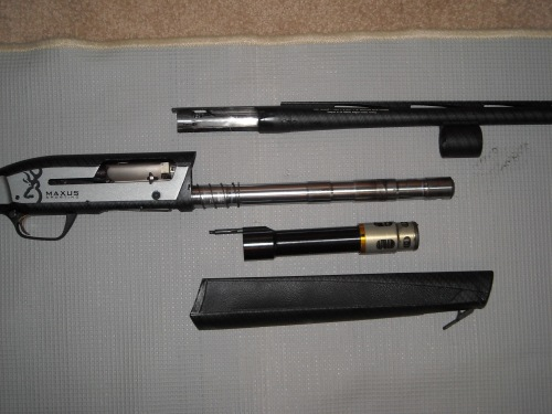 Disassembled Browning Maxus