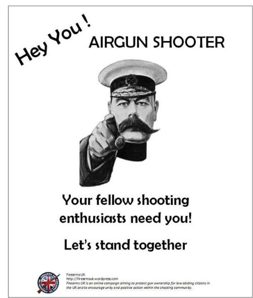 "A Firearms UK meme from the ""Unity Series"" on Airgun Shooters"