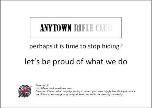 A Firearms UK meme on rifle clubs