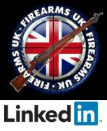 Firearms UK logo above Linkedin logo