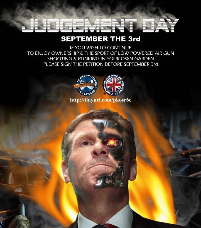A Firearms UK meme with a Judgement Day theme