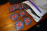 Firearms UK official Velcro patches being unpacked